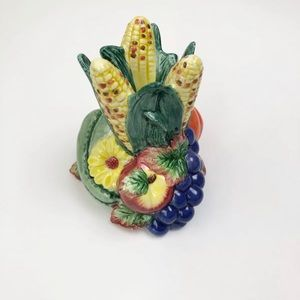 Fitz & Floyd 1996 Harvest Fruit Pumpkin Corn Decor